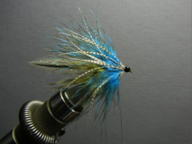 Blue Olive Chickabou Streamer